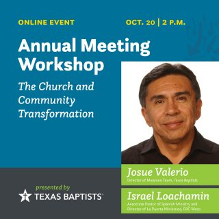 The Church and Community Transformation