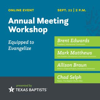 Sept. 22 - Equipped to Evangelize